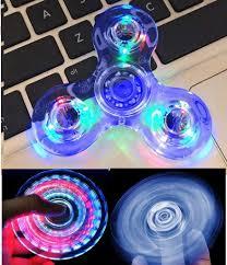 Fidget Spinner Light Blue Led Buy Wooce Crystal Blue Led Light Fidget Spinner High Speed