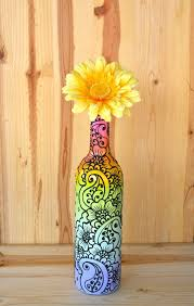 Ideas To Decorate Wine Bottles Wine Bottle Crafts From Etsy 55
