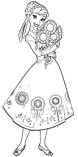 Fever Anna Sunflowers Coloring Page Wecoloringpage