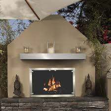 brushed stainless steel mantel shelf for fireplace stainless steel