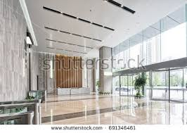 modern interior office stock. Interior Of Modern Entrance Hall In Office Building Stock C