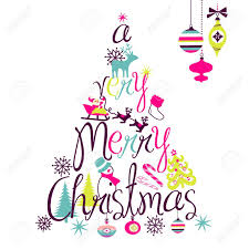 Pictures Of Merry Christmas Design A Very Merry Christmas Tree Design Royalty Free Cliparts Vectors