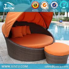 Juscu Rattan Daybed With Canopy Replacement Cushion Covers Outdoor