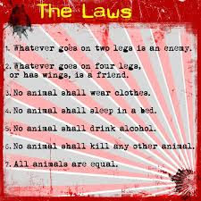 best l animal farm images farm animals the laws and or rules of ani sm set by snowball a prior occupant of animal farm animal farm rules