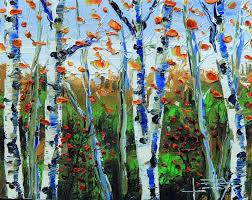 original art for at ugallery com silver birch by lisa elley 300