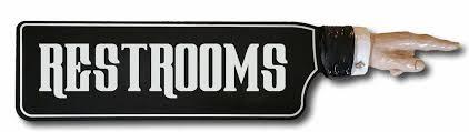 restroom directional sign. \u0027RESTROOMS\u0027 Directional Sign W/ Hand Relief Restroom C