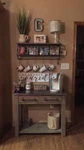 coffee bar. Rustic Coffee Station #Coffee (Coffee Bar Ideas) Tags: Ideas