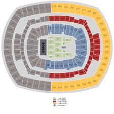 U2 Metlife Seating Chart Metlife Stadium Summer Concert Schedule Right Here Tba
