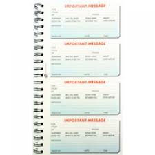 telephone message book message book