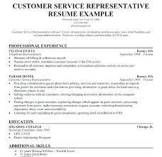 Customer Service Representative Job Duties Wonderful Resume For