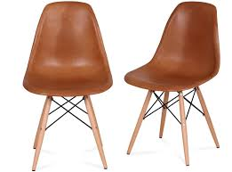 eames chair leather. Pictured In Vintage Tan Waxed Aniline Leather Eames Chair CHICiCAT
