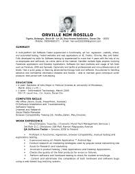 Incredible Entry Level Qa Tester Resume Resume Format Web