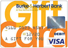 a burke herbert bank visa r gift card is the perfect gift for