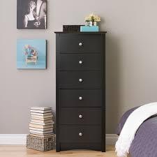 Prepac Bedroom Furniture Prepac Black Sonoma Tall 6 Drawer Chest Home Furniture