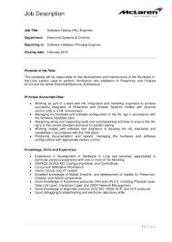 Engineer Job Description Job Description 24 Software Testing HIL Engineer 16