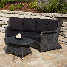 Coral Coast Casco Bay Resin Wicker Outdoor Glider Loveseat  HayneedleWhite Resin Wicker Outdoor Furniture
