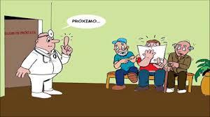 Resultado de imagem para charge de exame de prostata