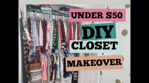 easy diy closet makeover under 50