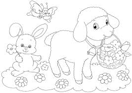 Easter Free Colouring Pages Hello Kitty Happy Free Easter Colouring