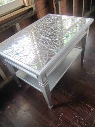 mosaic metallic mosaic table mirror metallic silver coffee table or side glass bead rhcouk luxury bistro