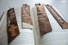 how to make diy leather bookmarks for easy handmade gifts