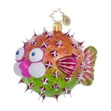 Christopher Radko Always Puff A Kiss Fish Christmas Ornament (retired)