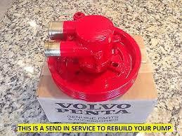 volvo penta raw water sea pump rebuilt 3858847 3855778 3852398 6 5 volvo penta rebuild service sea raw water pump 3812519 21212799 first