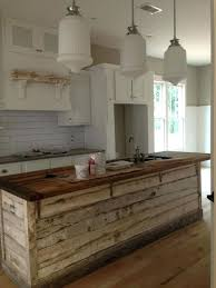 rustic wood kitchen island octeesco