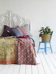 Gallery: kantha quilts in the home - Decorator's Notebook & vintage sari kantha quilts - buy similar at Decorator's Notebook Adamdwight.com
