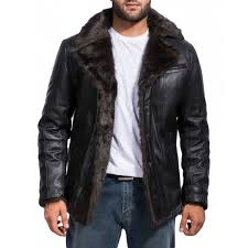 men s black fur jacket 1200x1200 excellent leather coat for 19