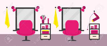There are 158 salon chair clipart for sale on etsy, and they cost $4.13 on average. Beauty Salon Interior With Furniture And Equipment Vector Illustration Royalty Free Cliparts Vectors And Stock Illustration Image 135966187