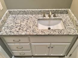 ashen white granite countertops moen 8 widespread faucet proflo undermount sink