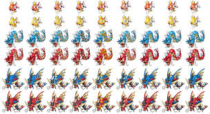 All Magikarp Patterns Amazing I Decided To Make Sprites Of Some Of The Magikarp Jump Variants