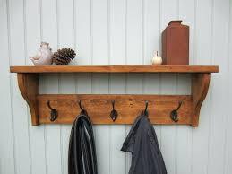 Coat Racks And Hooks Enchanting Wall Coat Rack With Shelf Clothing Hooks Hook Rustic Amazing ReBlog