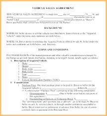 Personal Car Sale Agreement Car Dealer Sales Contract Form Sample Car Sales Contract