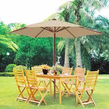 wood market umbrella multiple