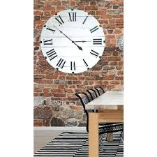 oversized white inch classic wall clock black and big clocks