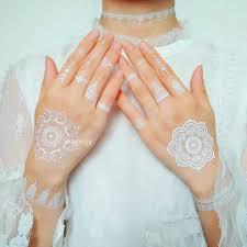 новый сексуальный красивый боди арт макияж милые красивые белые хны и кружева