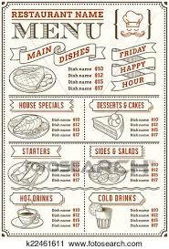 Resturant Menu Template Clipart Of Restaurant Menu Template K22461611 Search Clip Art