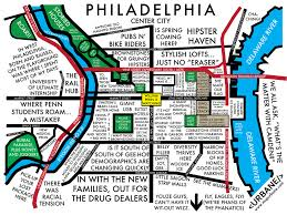philadelphia neighborhood culture map mug – urbane map store