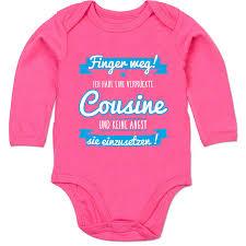 Shirtracer Sprüche Baby Ich Habe Eine Verrückte Cousine Blau