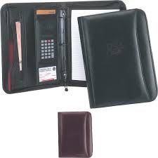 item gl605 ranier binder leather 3 ring portfolio