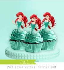 Ariel Cake Decorations Ariel Cupcake Toppers The Little Mermaid Princess Ariel