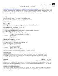 Resume Basic Format Resume Templates Free Simple Free Simpl Basic