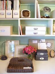organize office desk. Chic, Organized Home Office For Under $100 Organize Desk T