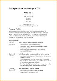 Cover Letter Sample Of Chronological Resume Sample Of Reverse