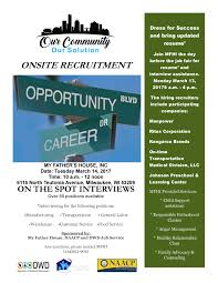 onsite interviews job fair naacp milwaukee flyer