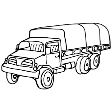 Small Picture Army Half Truck Coloring Page For Boy To Print