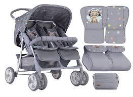 Designer Twin Prams Baby Tandem Double Stroller Twin Pushchair Lorelli Pram
