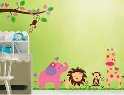 kids nursery jungle wall decal